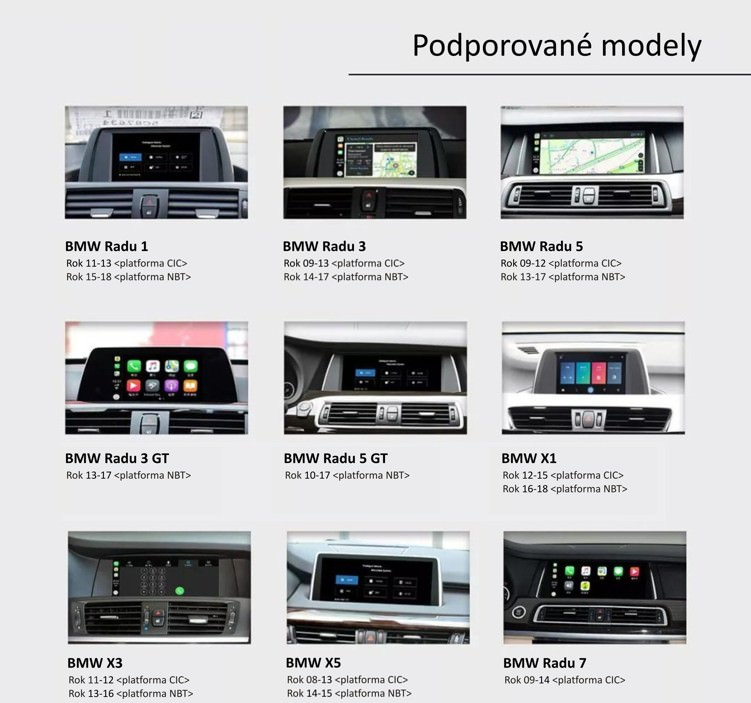 ANDROID AUTO & APPLE CARPLAY & MIRRORLINK pre BMW