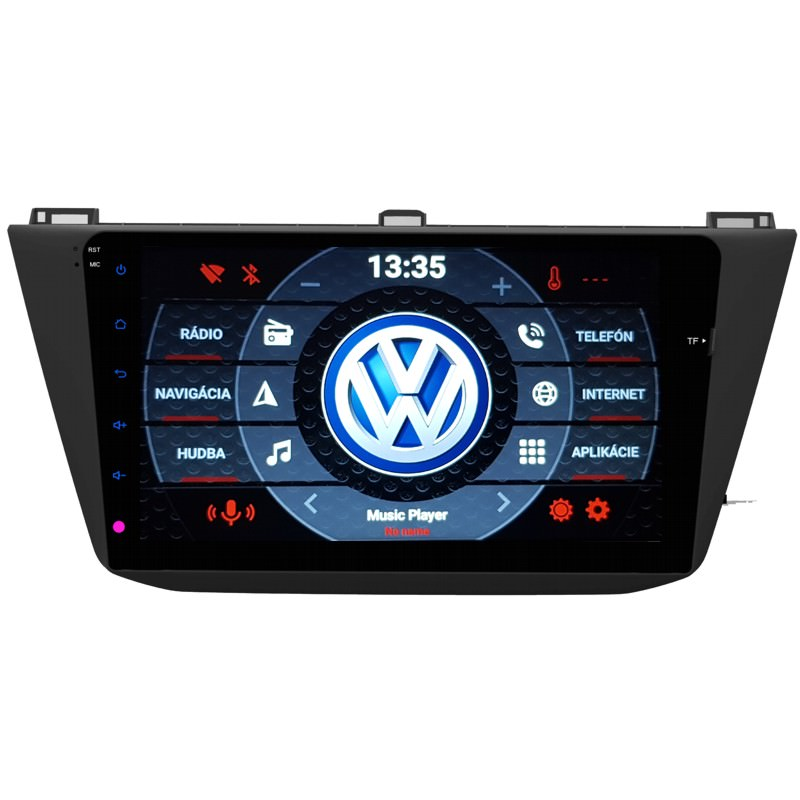 VW Tiguan 2016 Android 9 autorádio s WIFI, GPS, USB, BT
