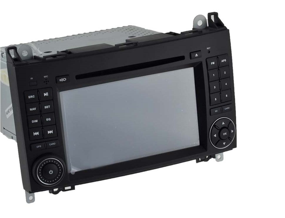 MERCEDES A, B, VITO, VIANO, SPRINTER autorádio s 3D GPS, DVD, USB, SD, BLUETOOTH