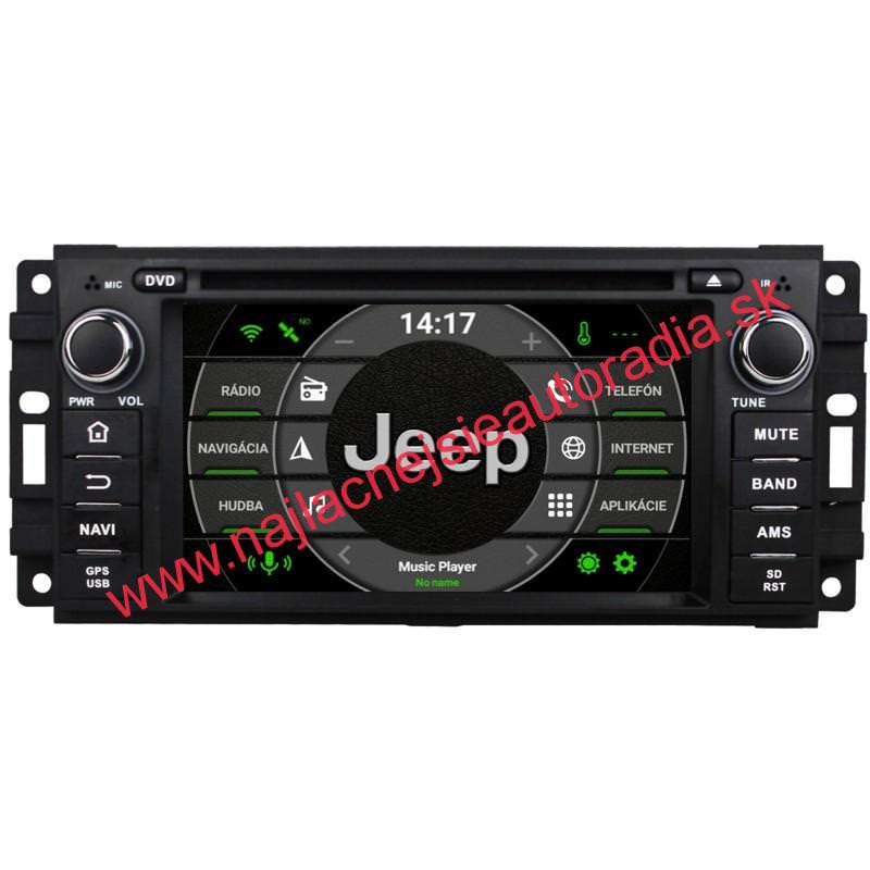 Jeep Android 10 autorádio s WIFI, GPS, USB, BT