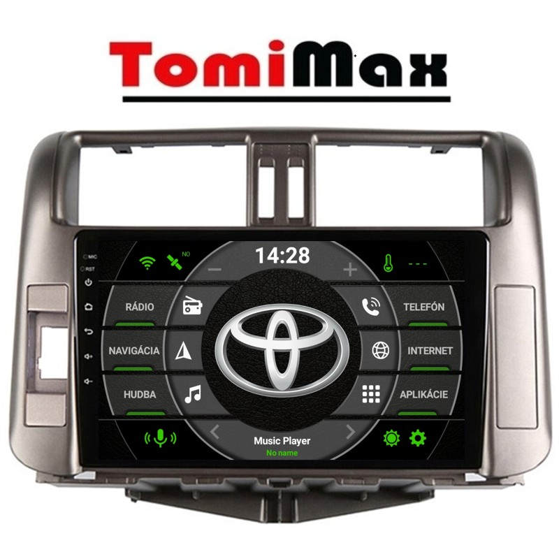 Toyota Land Cruiser Android 10 autorádio s WIFI, GPS, USB, BT