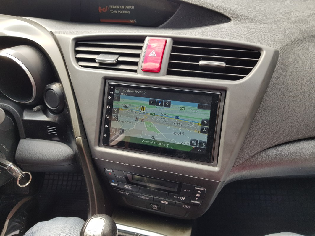Honda Civic Android 10 autorádio s WIFI, GPS, USB, BT