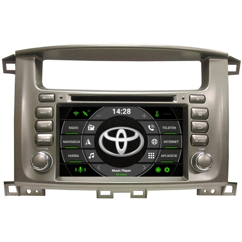 Toyota Land Cruiser 100 Android 10 autorádio s WIFI, GPS, USB, BT