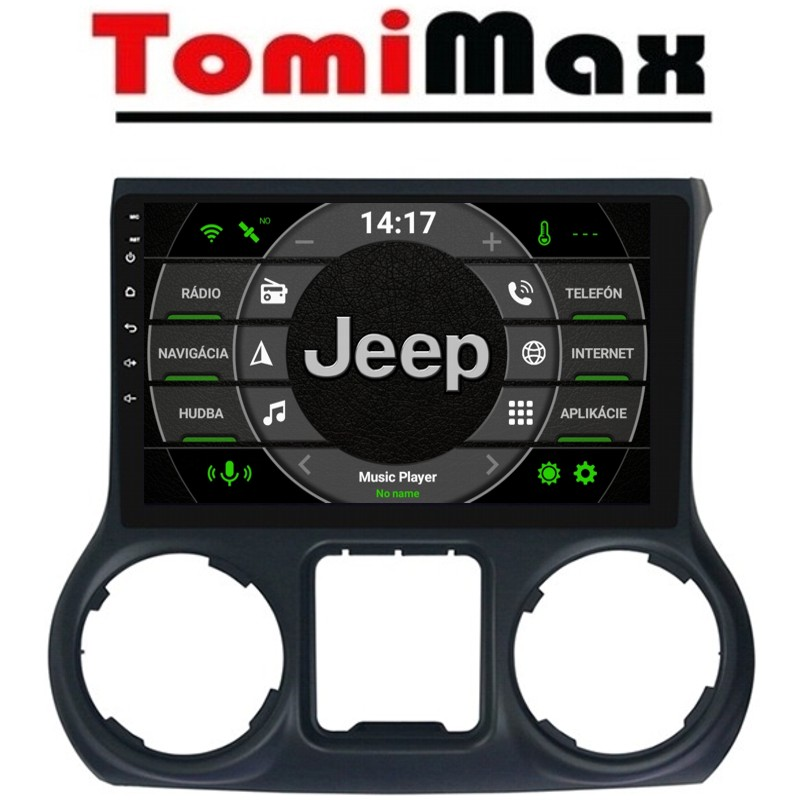 Jeep Wrangler 2011-2014 Android 10 autorádio s WIFI, GPS, USB, BT
